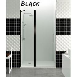 Open Black COMBI C, fijo más puerta perfiles negros