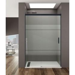 Frontal de ducha BASIC FROST perfilería en color negro mate