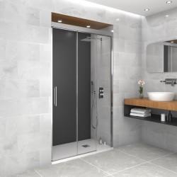 Mampara de baño TRIO de GME 2 puertas correderas y un fijo