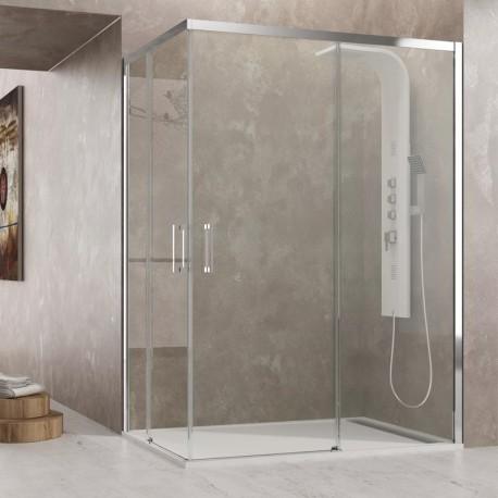 Mampara de ducha angular Aktual en esquina fabricante GME