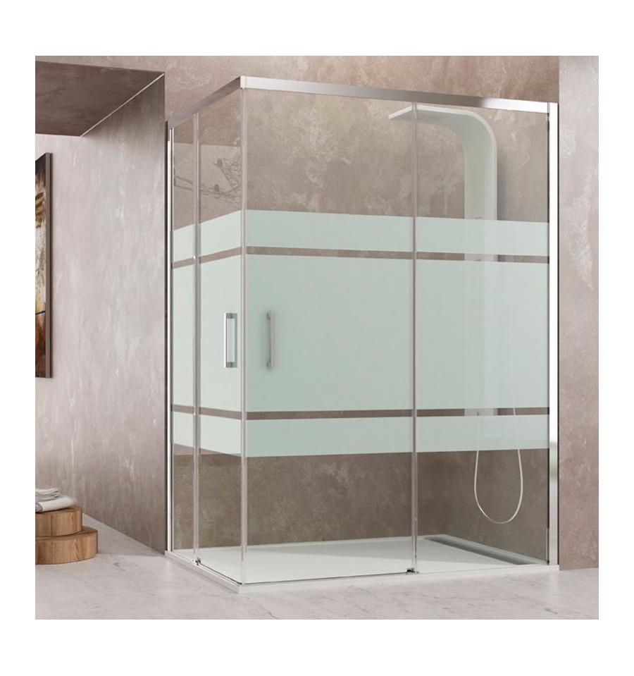 Mamparas en esquina puertas correderas modelo aktual gme - Mamparas para ducha ...