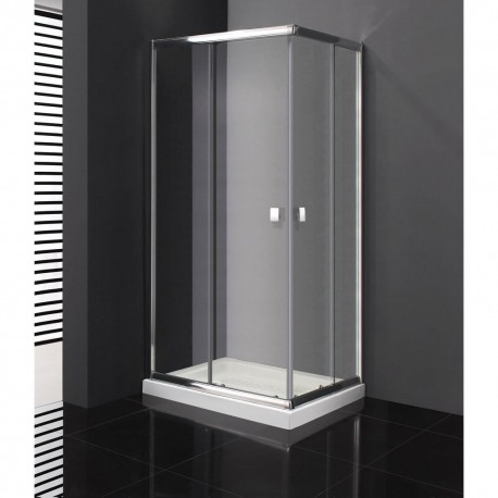 Mampara de ducha angular en aluminio Titan en esquina fabricante GME