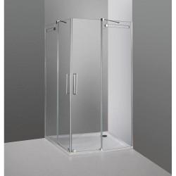 Mampara de ducha angular acero Vetrum en esquina fabricante GME venta online