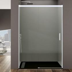 Frontal de ducha BASIC perfilería en color blanco