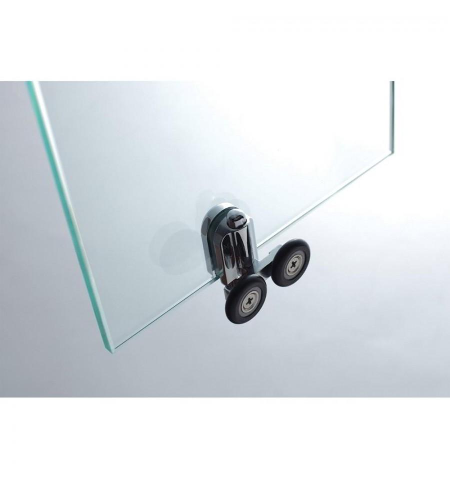 Mamparas de ducha frontales puertas de cristal correderas - Rodamientos mamparas de bano ...