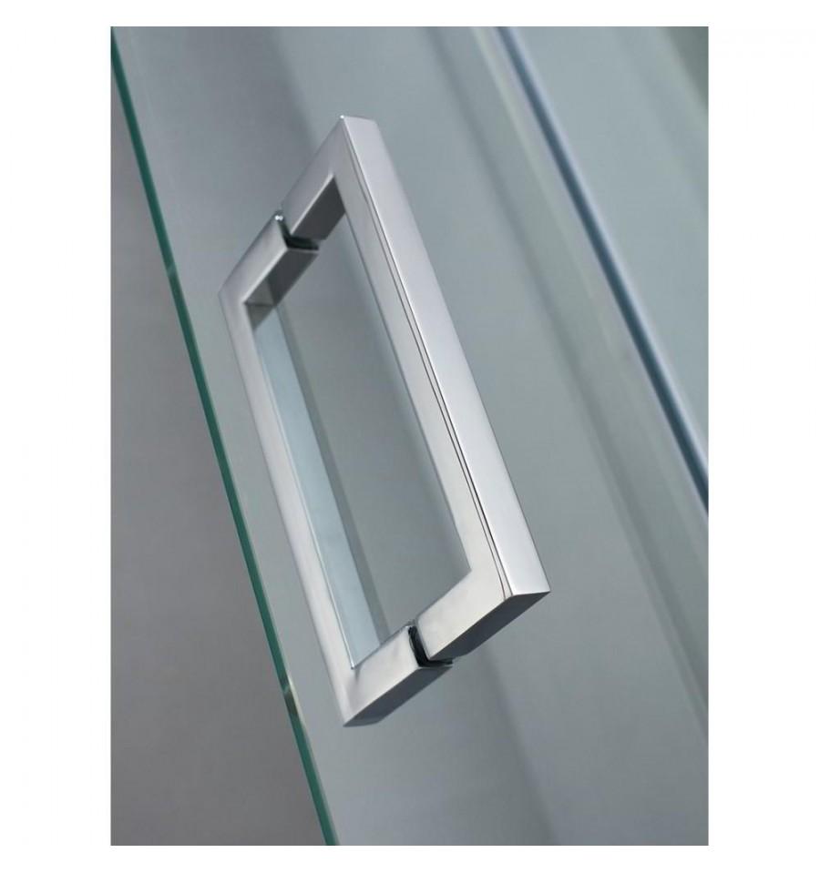 Mamparas de ducha frontales puertas de cristal correderas - Tirador puerta cristal ...