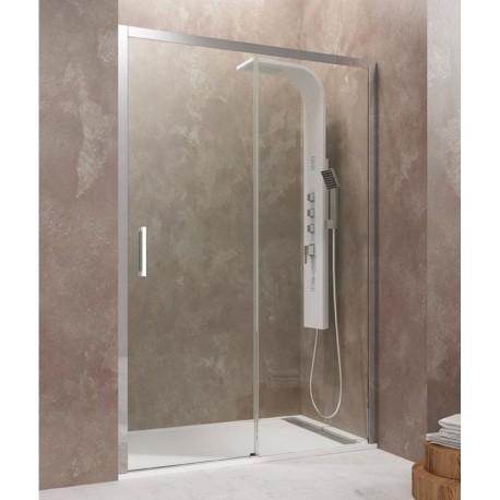 Mampara de ducha AKTUAL frontal 1 fijo + 1 puerta corredera GME
