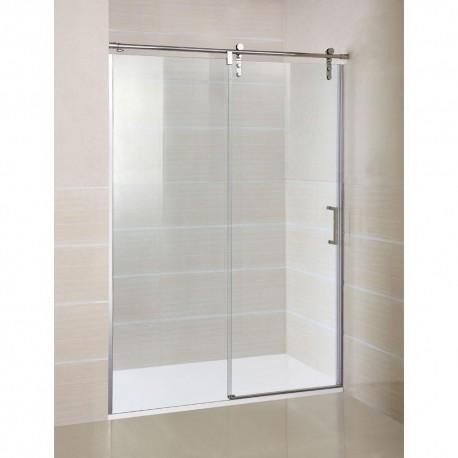 Mampara de ducha en acero MOVING de GME fijo mas puerta corredera