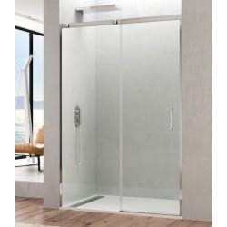 Mampara de ducha frontal TEMPLE fijo + puerta corredera