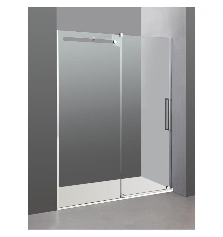 Frontal de ducha de dise o vetrum fijo m s puerta corredera - Mamparas sin perfiles ...