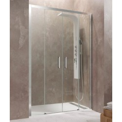 Mampara de ducha frontal AKTUAL 2 fijos + 2 puertas correderas GME