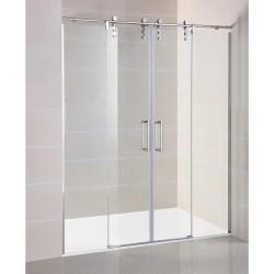 Mampara de ducha frontal Moving 2 fijos + 2 puertas correderas GME