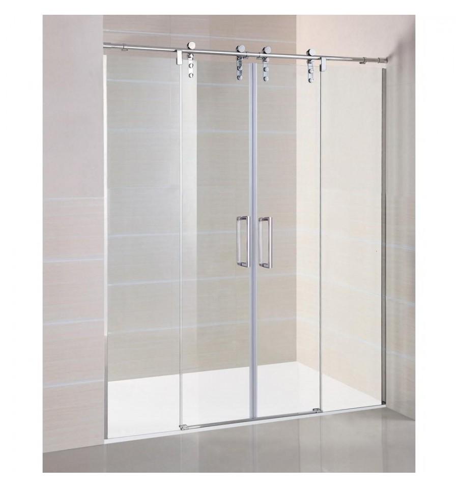 Frontal de 2 fijos y 2 correderas modelo moving gme - Mamparas correderas de ducha ...