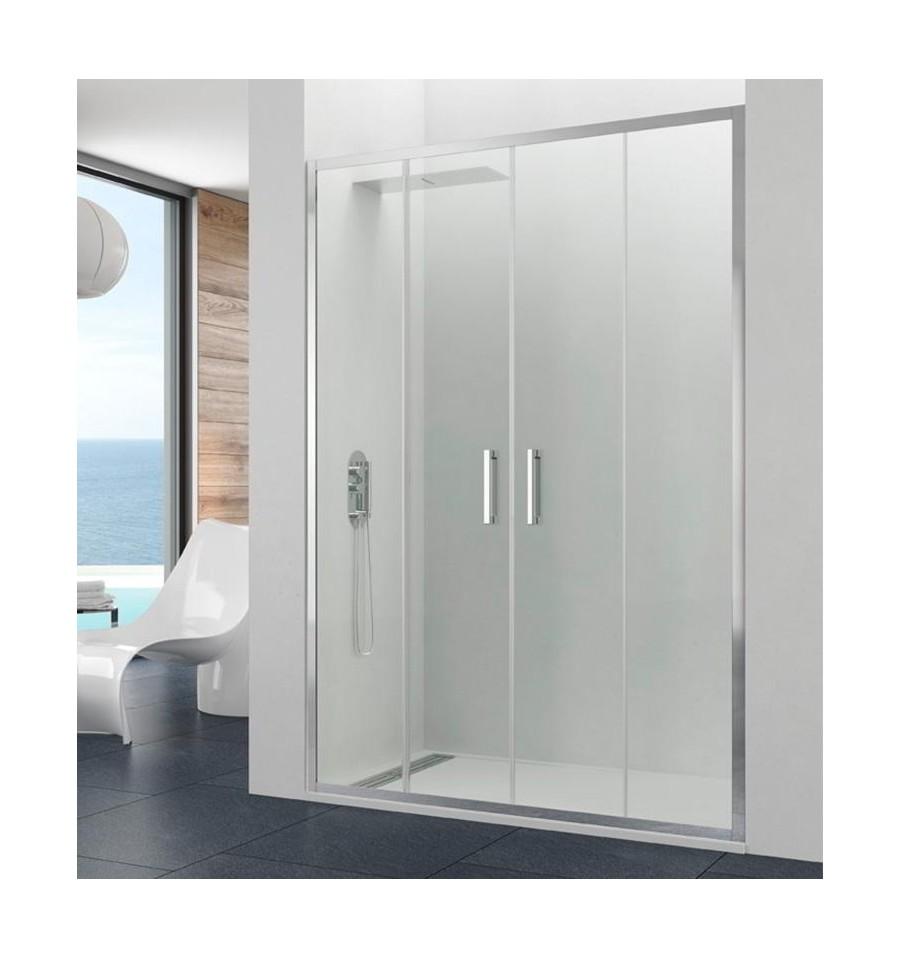 Mamparas de ducha frontales puertas de cristal correderas for Duchas a medida