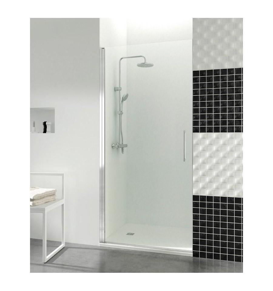 Puertas de cristales abatibles a medida baratas para ducha for Puertas macizas baratas