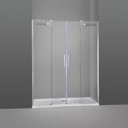 Mampara de ducha VETRUM 2 fijos más 2 correderas