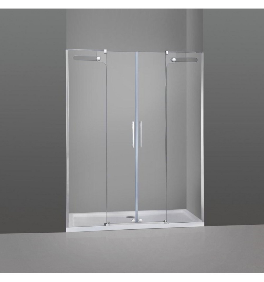 Frontal de ducha 2 fijos y 2 correderas vetrum gme - Mamparas frontales de ducha ...