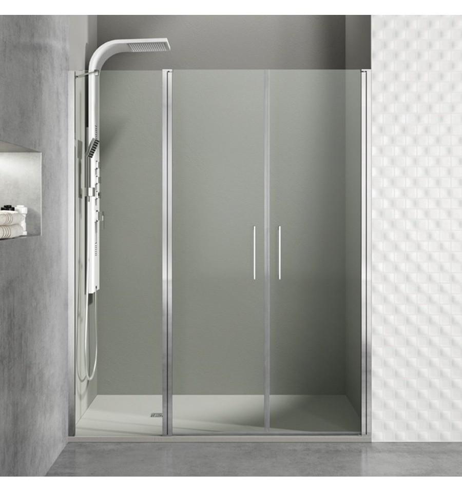 Cristales fijos m s puertas abatibles a medida modelo open - Mamparas para duchas de obra ...