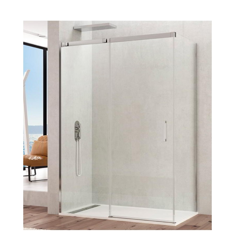 Frontales de ducha con fijo m s hoja corredera serie temple - Recambios gomas mamparas bano ...