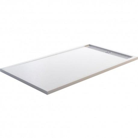 STYLE PLUS plato de ducha carga mineral textura pizarra blanco GME