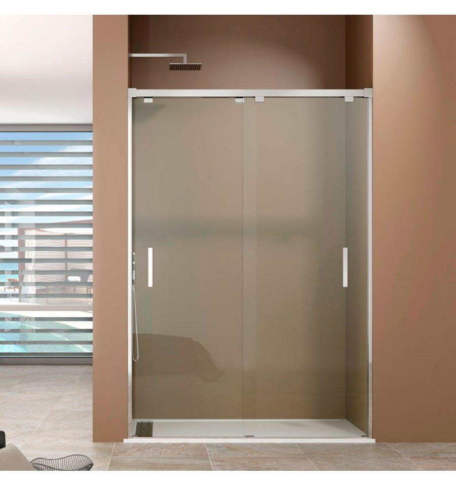 Frontales de ducha 2 puertas correderas modelo bypass gme for Mamparas de ducha de obra
