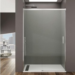 Mampara de baño minimalista BASIC de fijo y corredera