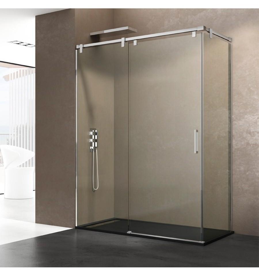 Frontal de ducha modelo futura fijo y corredera gme - Cristal fijo para ducha ...