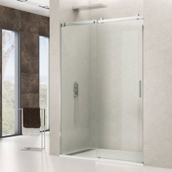 Mampara de ducha en acero ROTARY con puerta corredera