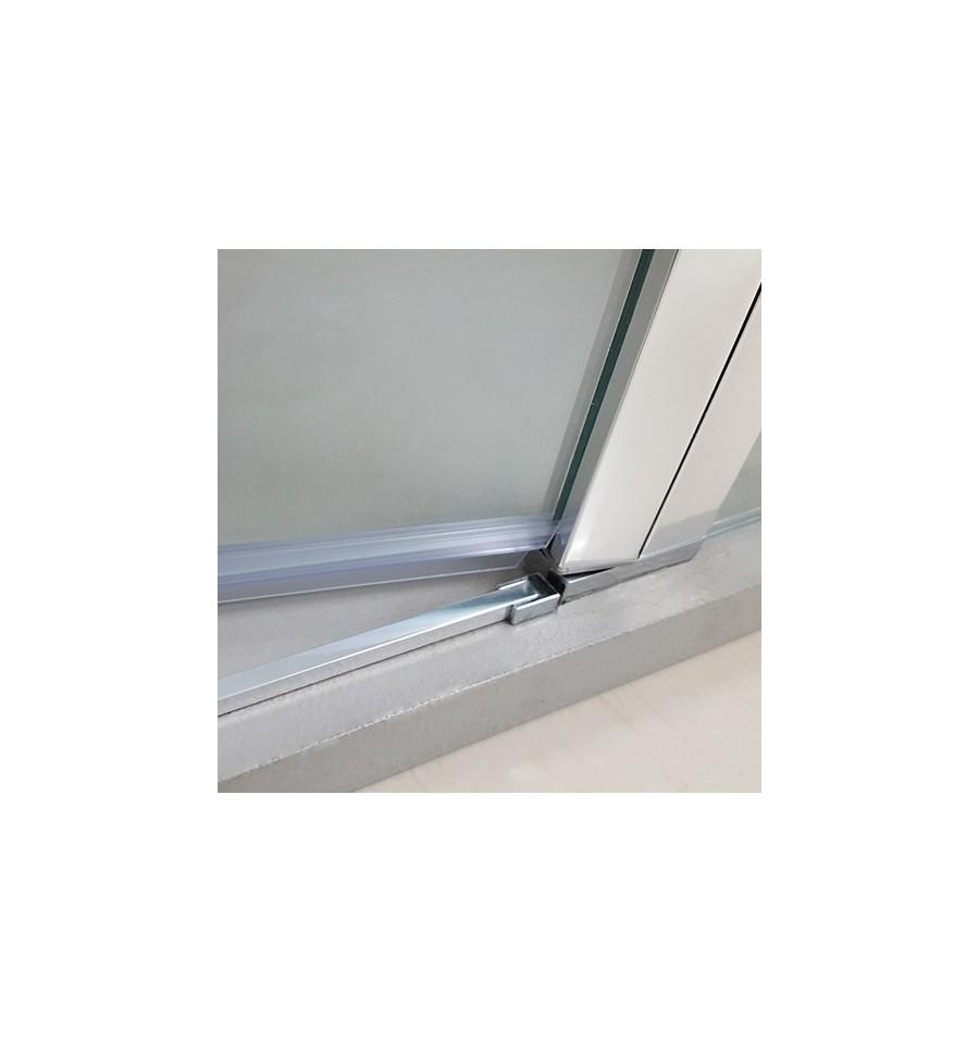 Frontales de ducha con 2 puertas abatibles a medida open gme for Puertas de cristal baratas