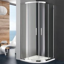 Mampara de ducha TITAN semicircular GME transparente