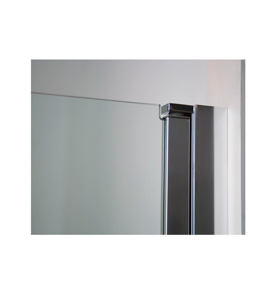 Puertas de cristal templado abatibles para ducha modelo open - Puerta de cristal abatible ...