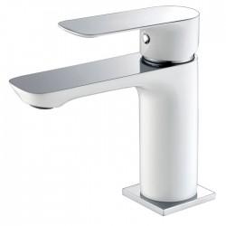 Grifería lavabo monomando CASSIO blanco/cromo