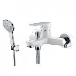 Grifería bañera CASSIO blanco con kit de ducha