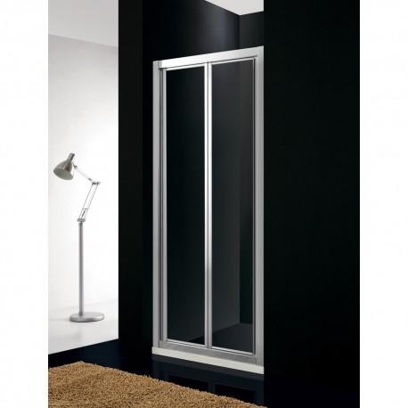 Mampara de ducha AKORD 2 puertas plegables GME aluminio