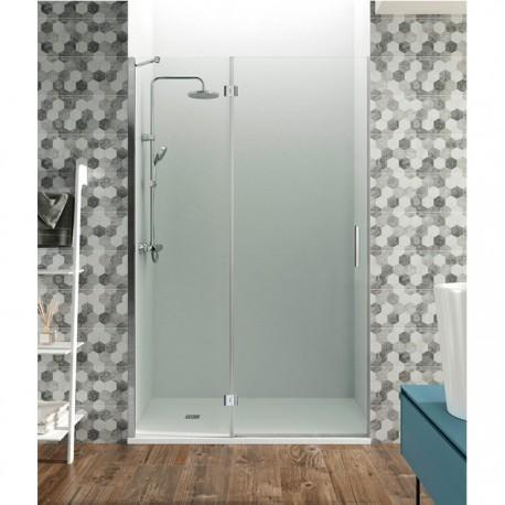 Mamparas de ducha cristales fijos m s abatibles con bisagras - Puerta cristal abatible ...