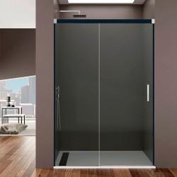 Frontal de ducha BASIC Fumé fijo + corredera