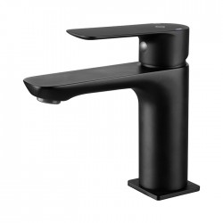Grifería lavabo monomando CASSIO negro