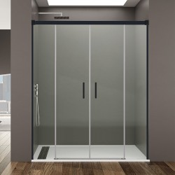 Frontales de baño BASIC, perfiles en color negro mate