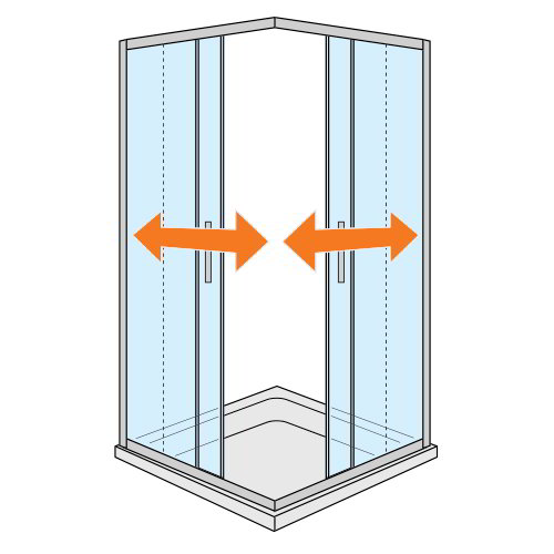 mamparas puertas de cristal correderas