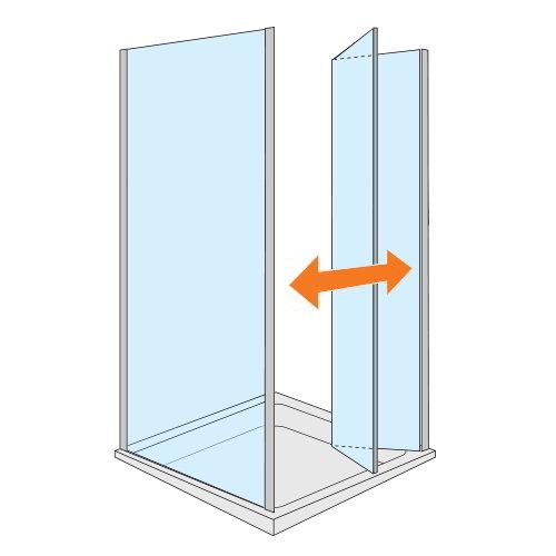 mamparas puertas de cristal plegables