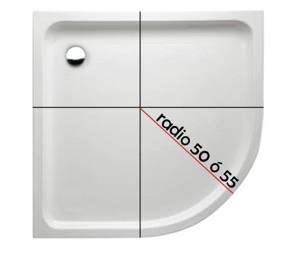 C mo saber si un plato de ducha semicircular es radio roca for Platos de ducha antideslizantes roca