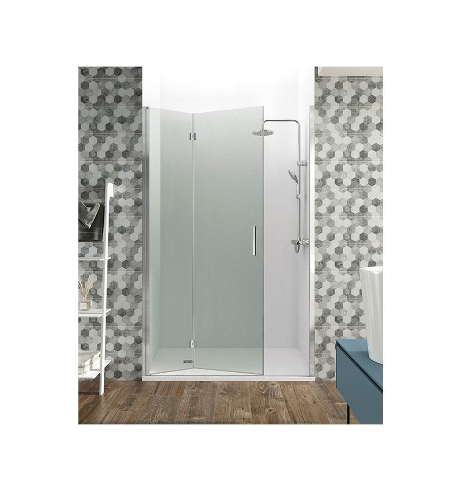 Mamparas de ducha con 2 hojas de cristal plegables - Mamparas ducha plegables ...